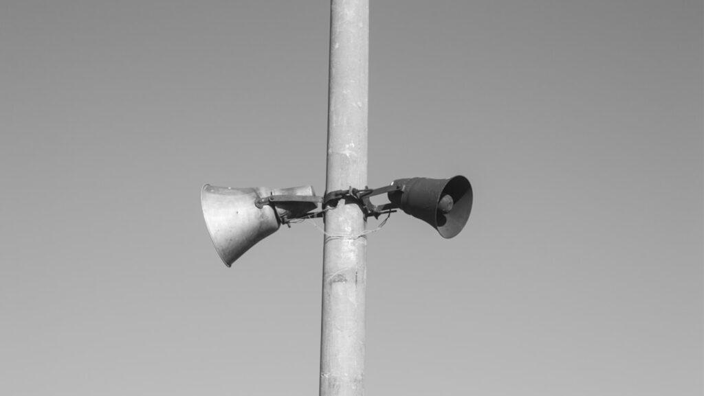 Megafoon oproep
