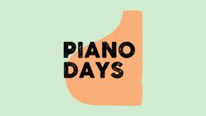 PianoDays 2022 logo oranje lichtgroen